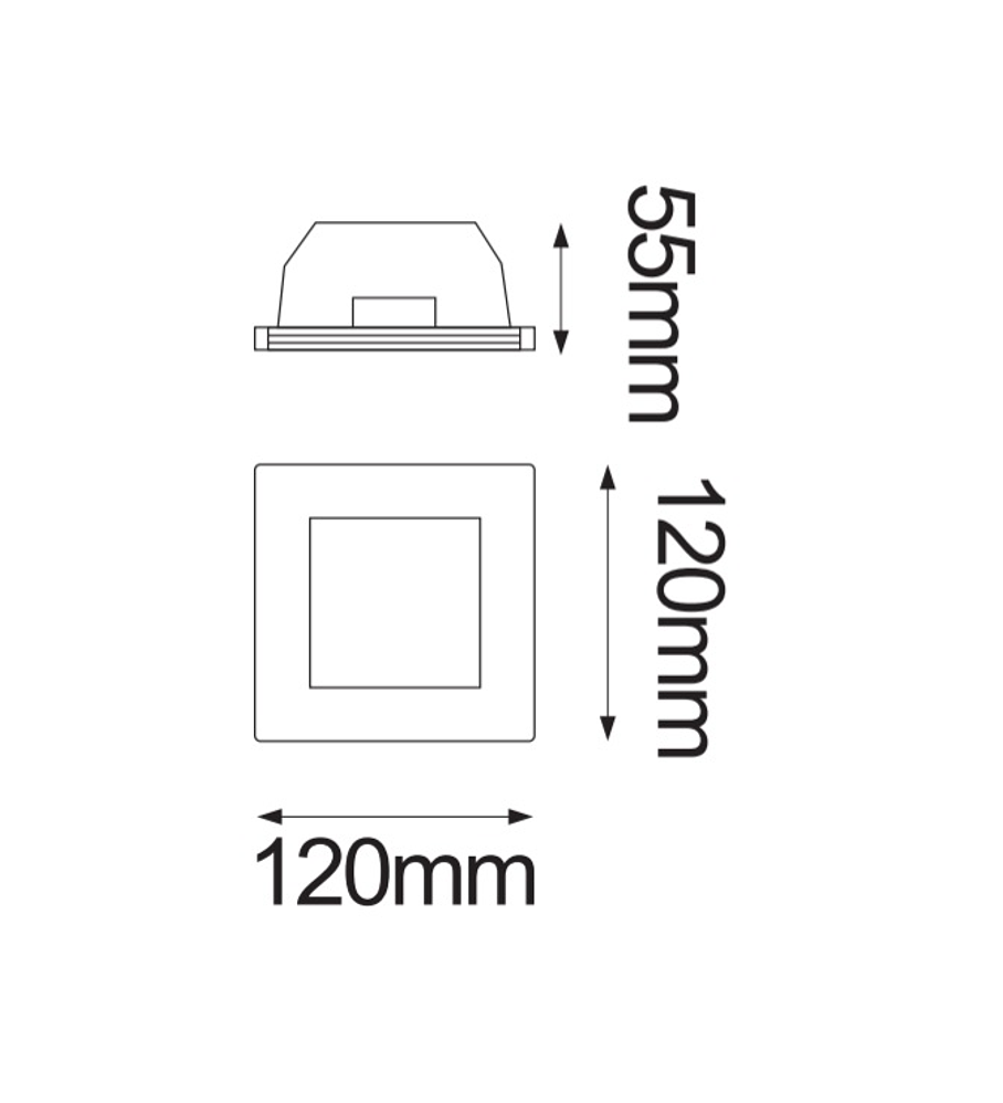 SQUARE GYPSUM DE YESO MAX 35W GU10 06-9129-10
