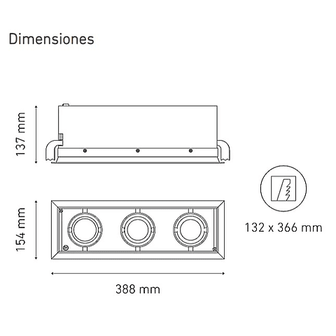 POINTS MP III L5910-YIL 100-305V 25° 40K NG
