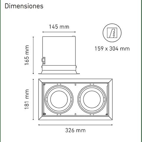 POINTS AP II L5912-YIL 100-305V 25° 40K NG