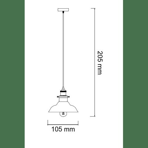 KELCH Q33134-SM PENDANT 1 LUZ CRISTAL HUMO E27