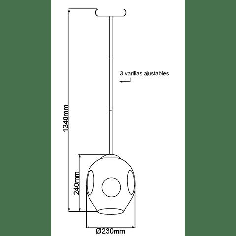 Sakura Pendant 1 light E26 acab. negro mate Q16061-BK