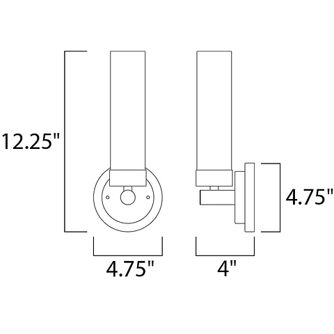 Cilandro LED 1-Light E63106-11SN Wall Mount