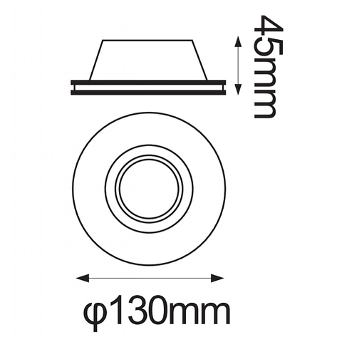 GYPSUM Empotrable de yeso Base GU10 max 35W 06-9130-10