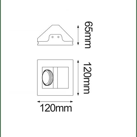 GYPSUM Empotrable de yeso Base GU10 Max 35W 06-9229-10