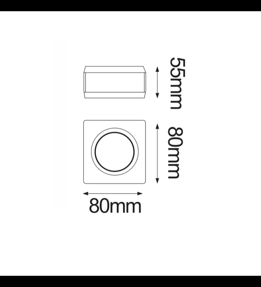 GYPSUM Empotrable de yeso Base GU10 Max 35W 06-9285-10