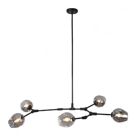 Q16067-BK Lámpara Sakura 5 luces acabado negro mate