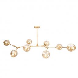 Q16068-GD Lámpara Sakura 8 Luces 60W E27 Acabado Oro