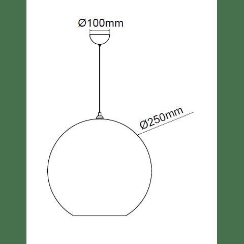 Q20625-BR Pendant Solar Cristal Acab. Bronce y canope 1 Luz  E26