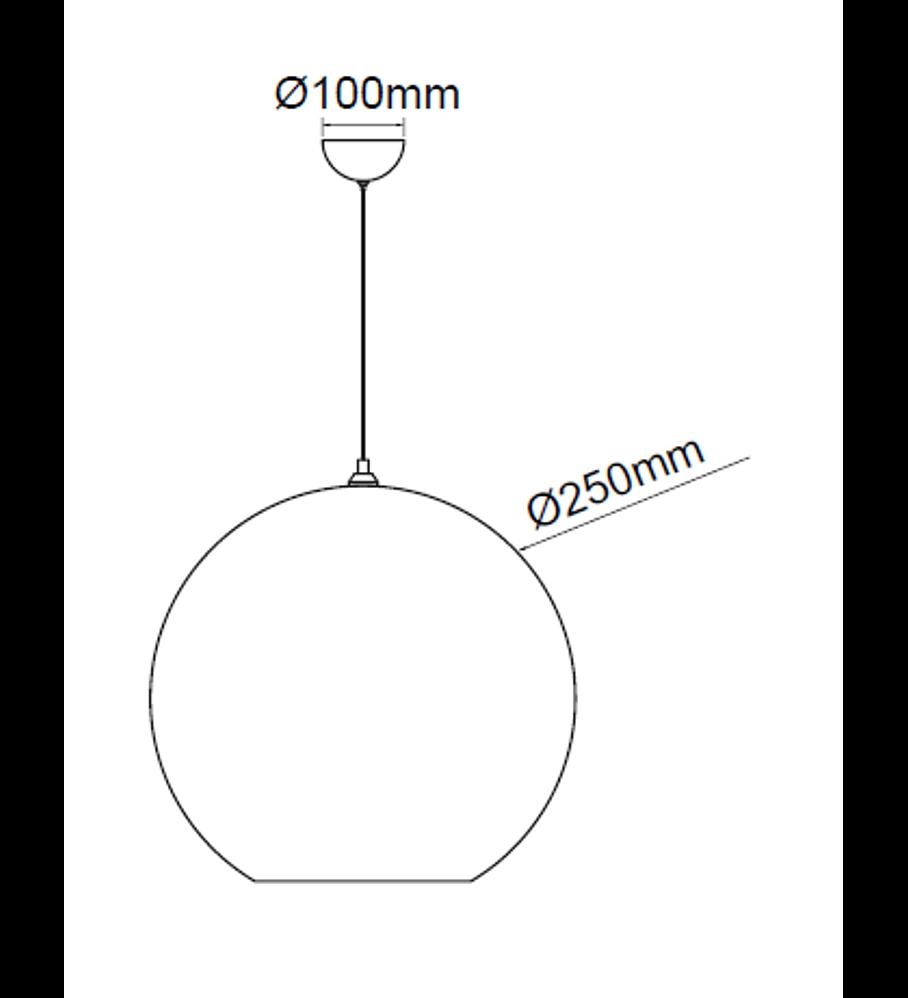 Pendant Solar Cristal Acab. Bronce y canope 1 Luz  E26 Q20625-BR