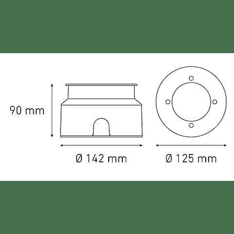 L7320-613 EP120 8W 100-305V BFP 18° 27K GRIS