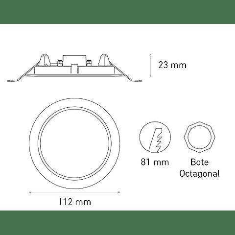 LUNA 6 FLAT L6352-130 6W 100-240V BF 60K BC