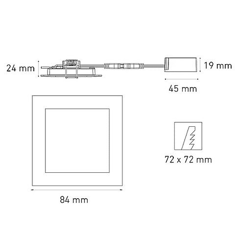 SQ 3 FLAT L6360-1E0 3.5W 100-240V 30K BC