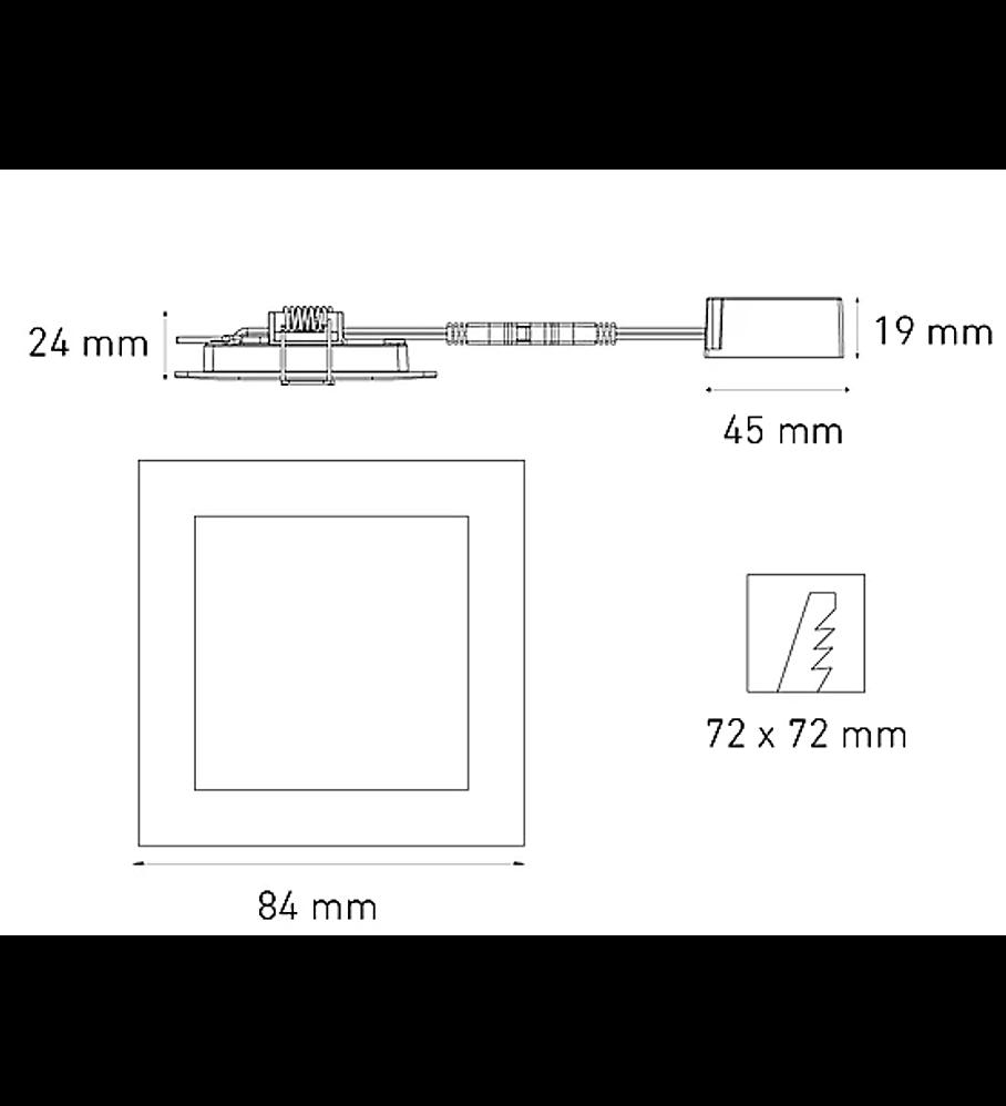 MAGG L6360-1E0 SQ 3 FLAT 3.5W 100-240V 30K BC