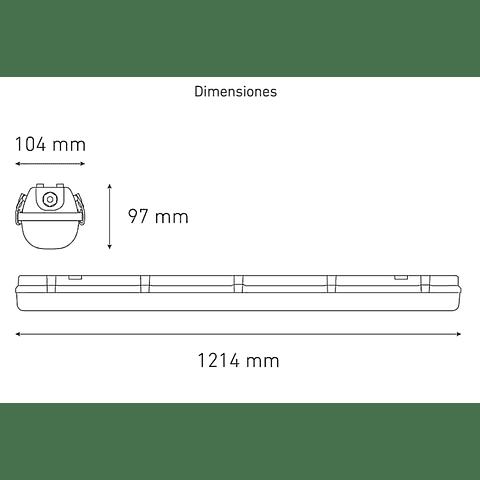GAMMA LED 1200S Clear L5405-530 30W 100-305V 60K GR TR