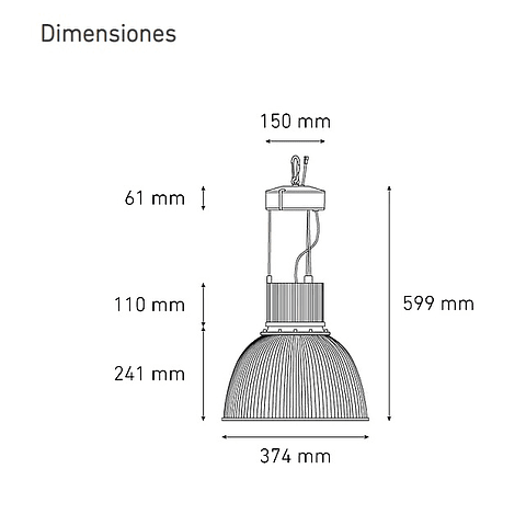CAMPANA 14/80 L5817-630 80W 100-305V 60K GR AC (A)