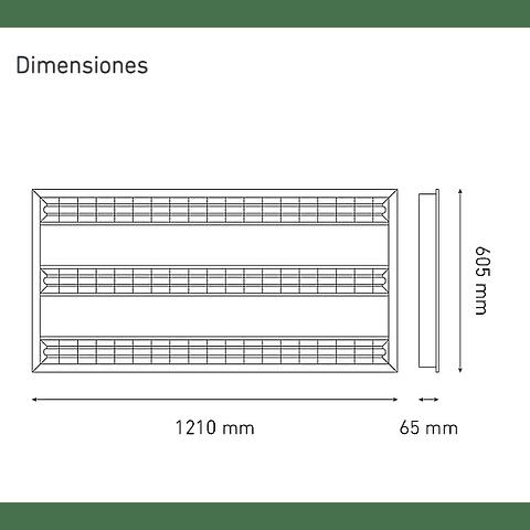 KROMOS LED 60X120 L6034-1I0 T5 100-140V 40K BC