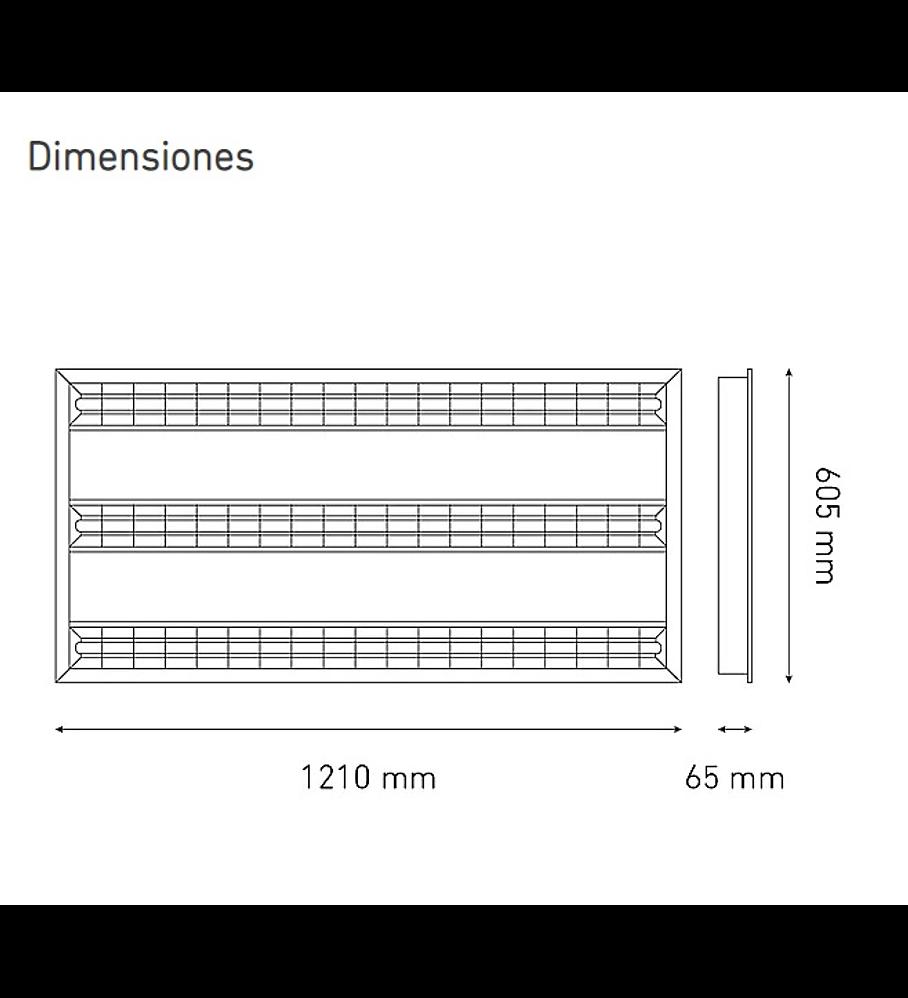 MAGG L6034-1I0 KROMOS LED 60X120 T5 100-140V 40K BC