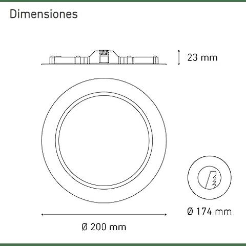 LUNA 13 FLAT L6335-130 13W 100-240V 60K BC