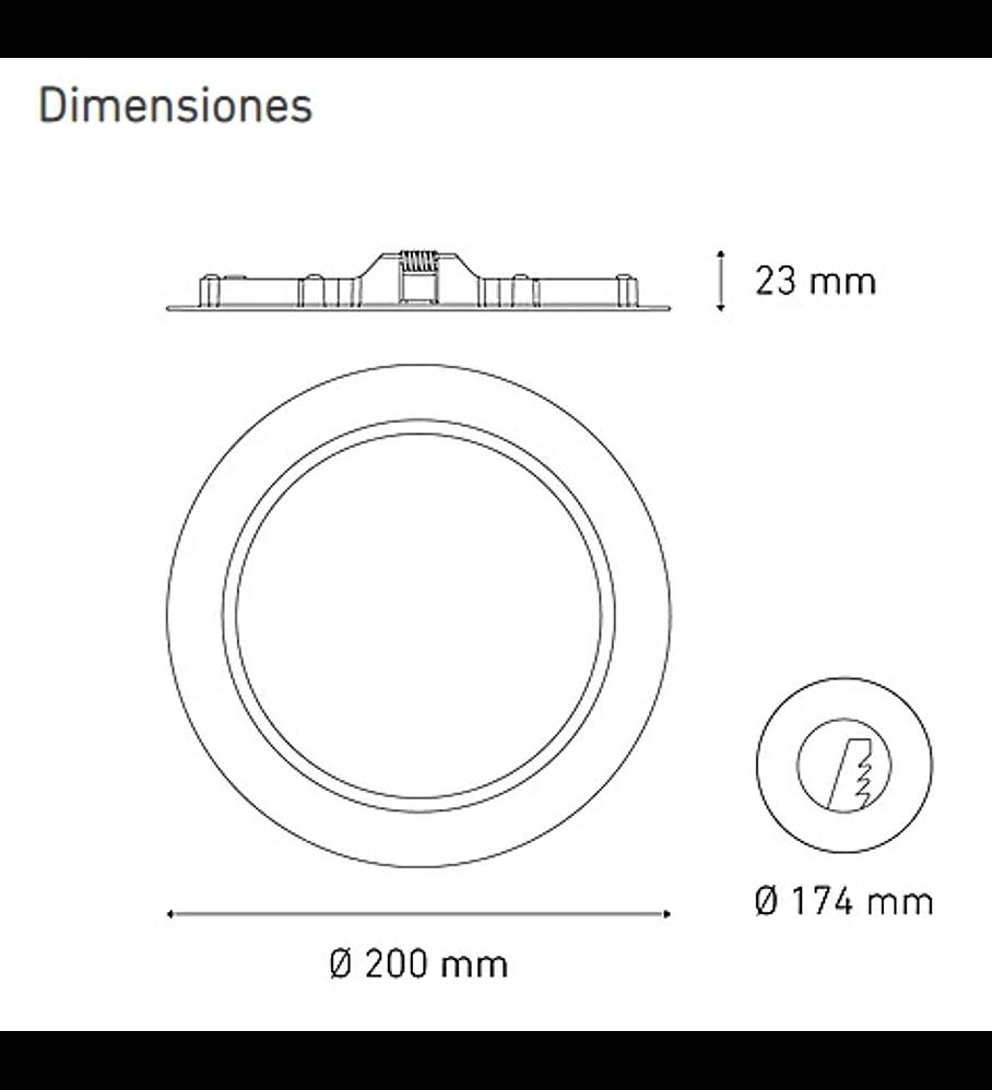 MAGG L6335-130 LUNA 13 FLAT 13W 100-240V 60K BC