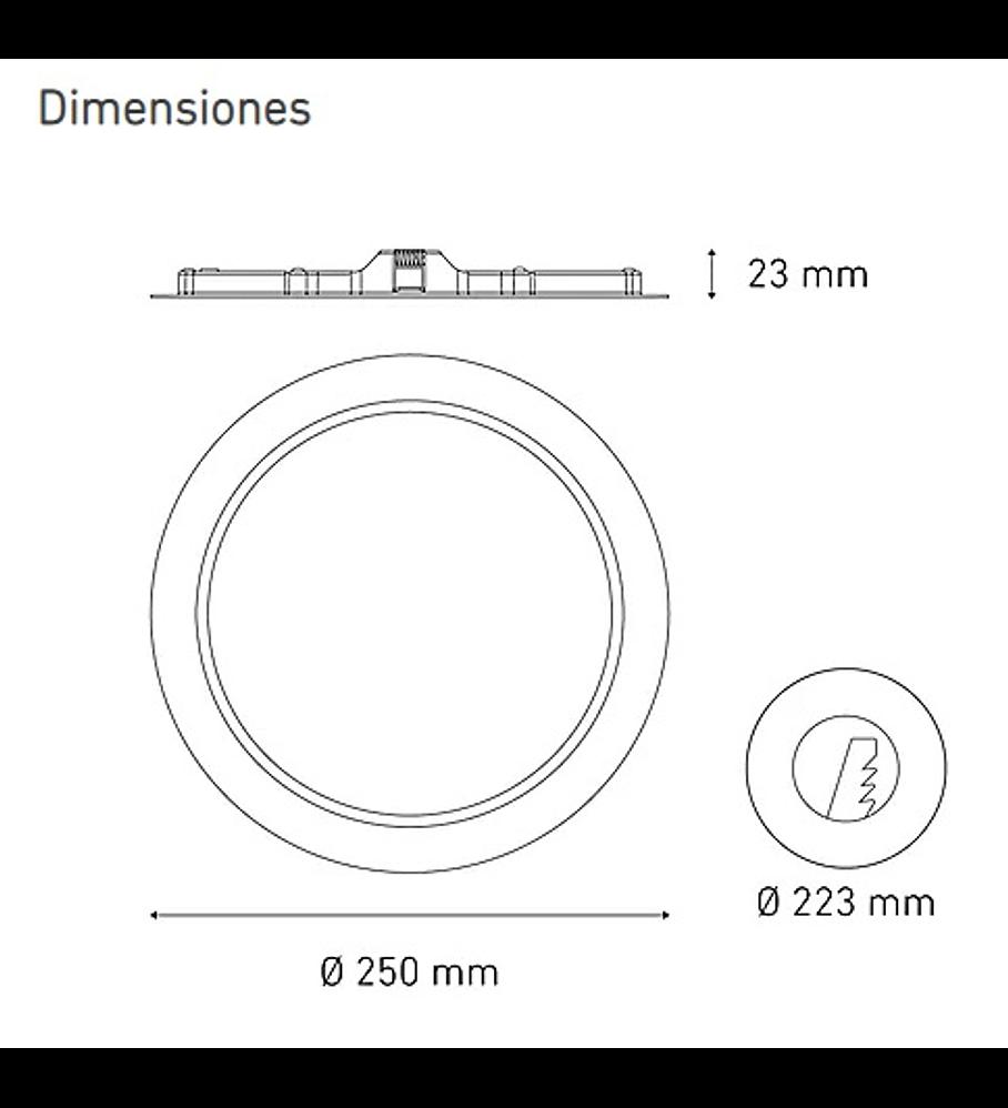 MAGG L6340-130 LUNA 18 FLAT 18W 100-240V 60K BC