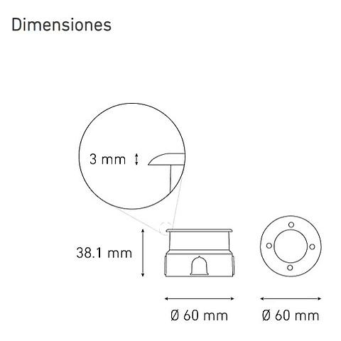 EP60 Empotrable a piso LED L7301-919 2W 100-240V 45° 27K AC IX