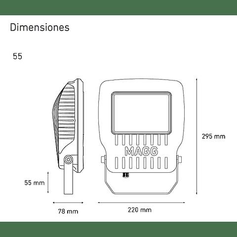 KR55 Reflector LED L7452-630 55W II 100-240V AFP 60K GR AC