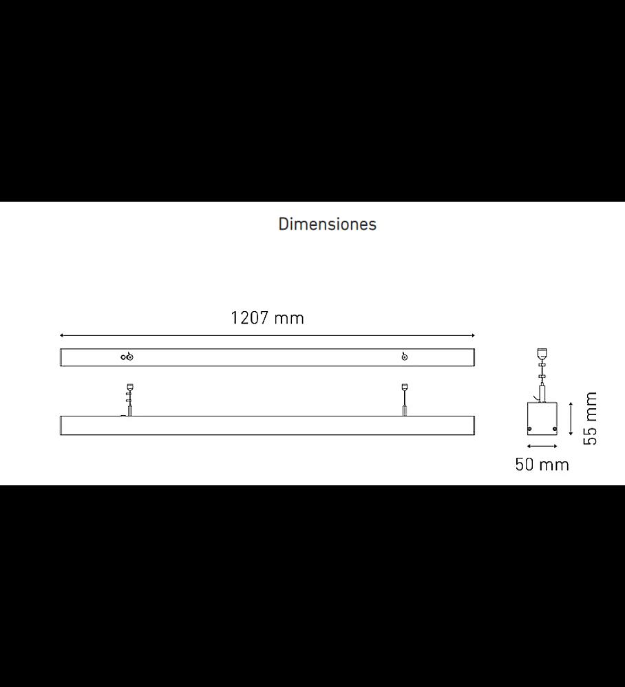 MAGG L6474-1I0 BL U SUSP 1200 23W 100-305V 40K BC
