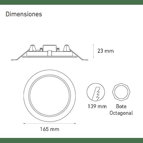LUNA 9 FLAT II B L6603-1E0 9W 90-140V BF 30K BC