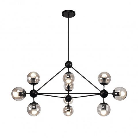 Q16081-BK Lámpara Miró 10 luces E26 Cristal Acabado Negro Smoke