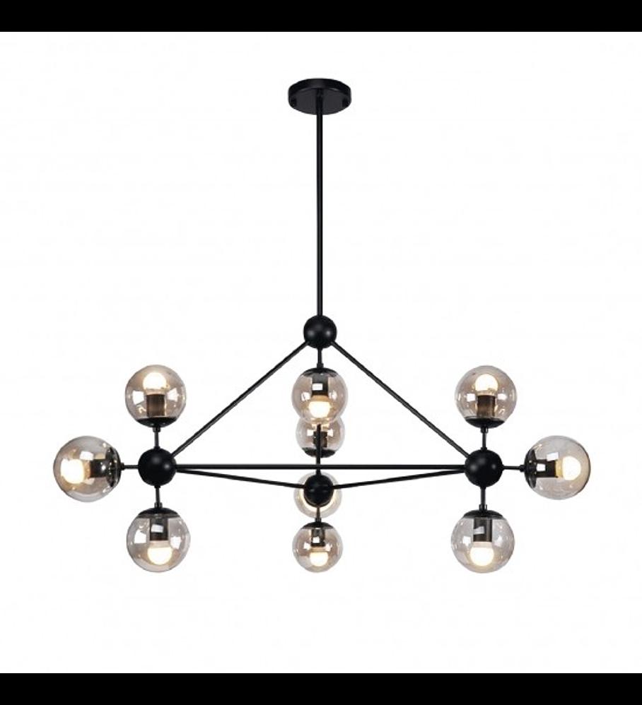 Q16081-GD Miró Pendant 10 luces E26 Cristal