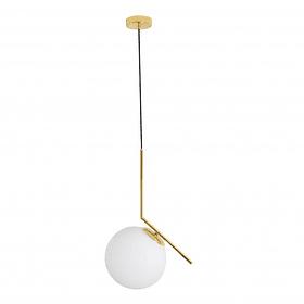 Q31627-GD Lámpara Sonne 1 luz Diam 25cm Opalina