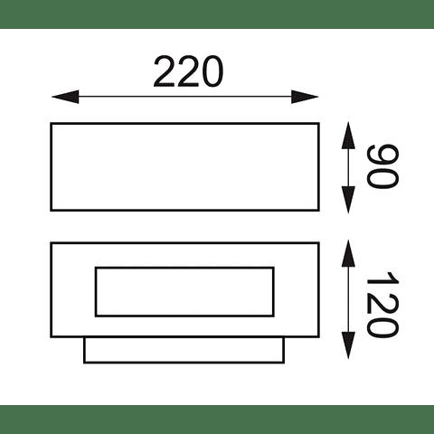 05-7302-04 Arbotante OSIRIS E27 Max 18W Grafito