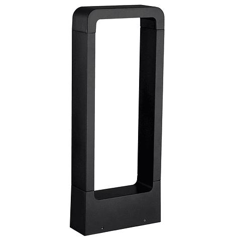 ADE-307 Luminaria LED Tubular Rectangular Sobreponer Aluminio Negro Ext. BF