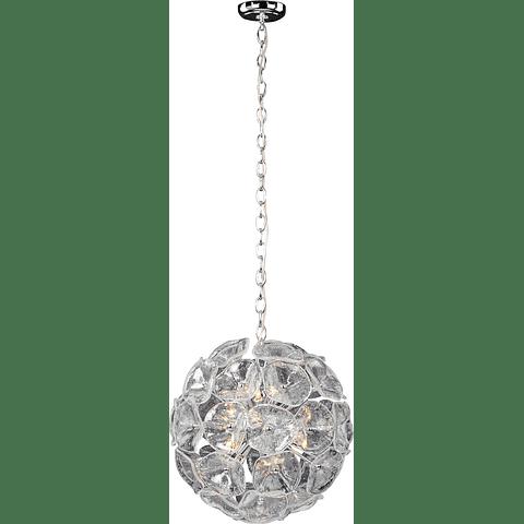 E22093-28 Lámpara Fiori 12 Luces Vidrio y cromo