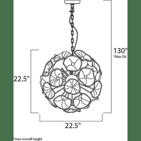 Fiori 20 Light E22094-28 Pendant Cromo y Vidrio