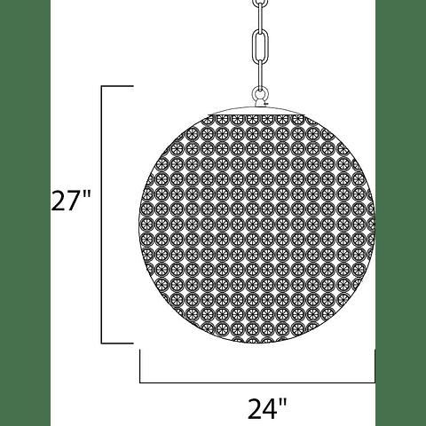 Glimmer 12-Luces 39887BCPS Colgante Decorativa Acab. Cristal