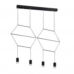 Sketch Pendant 4 light Lamp holder: LED 24W , 4000K  material:steel+acrylic