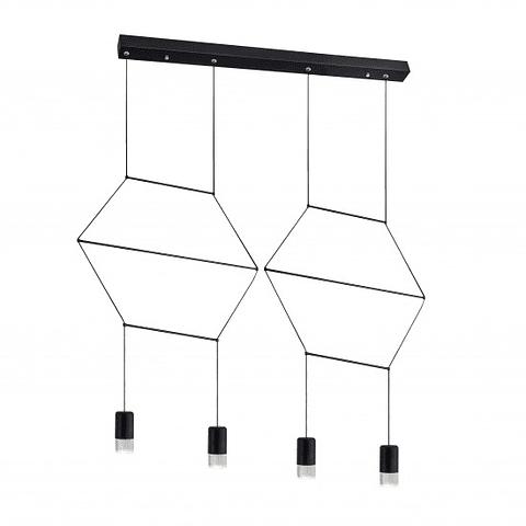 Q27887-BK Sketch Pendant 4 light Lamp holder: LED 24W , 4000K  material:steel+acrylic