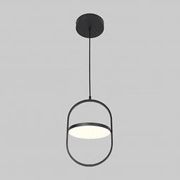 Q27244-BK Lámpara Decorativa Berlín acabado Negro Mate 12W Diámetro 23cm