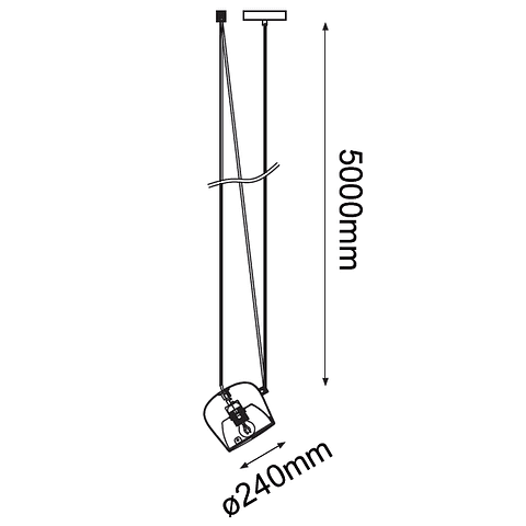 Q27141-BK Marco Pendant 1 light E26  20W,  acero y acrilico