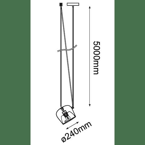 Q27141-BK Lámpara Decorativa Marco 1 luz E26 20W, acero y acrílico