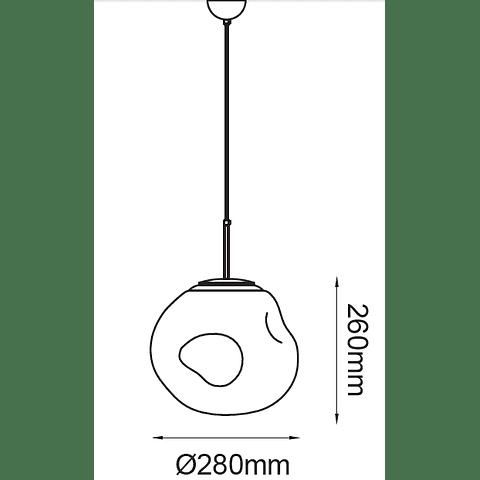 Munch Q10280-BR D280 E26 127V 1*60W Acab. Bronce