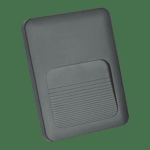 STEPLIGHT-N Arbotante LED acabado negro 2W IP65 luz cálida