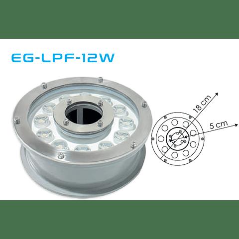 EG-LPF-12W-RGB Luminario sumergible 24V  Luz RGB IP68