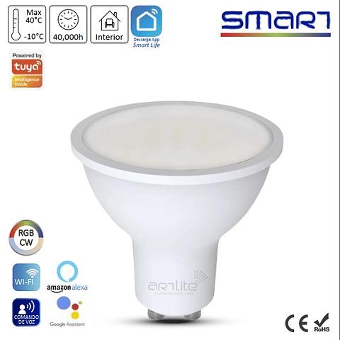 ALA-030 Lámpara LED Smart WIFI RGB Multicolor y Blancos GU10 2 Pack