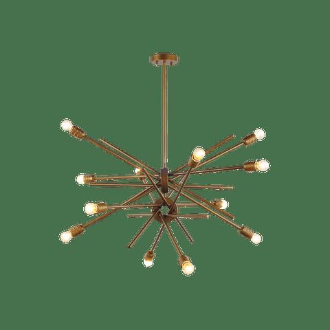 Candil Decorativo Hierro Dorado Modelo 2CLZM21