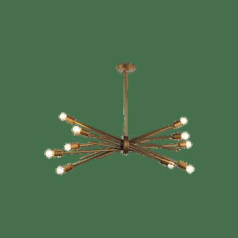 Candil Decorativo Hierro Dorado Modelo 2CLZM20