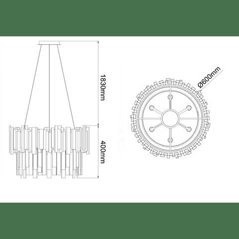 Lámpara decorativa DANAE  Q11606-NI Acab. Níquel