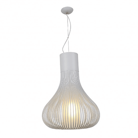 Andy Pendant Blanco Mate E26 Metal y Cristal Q47067-WH