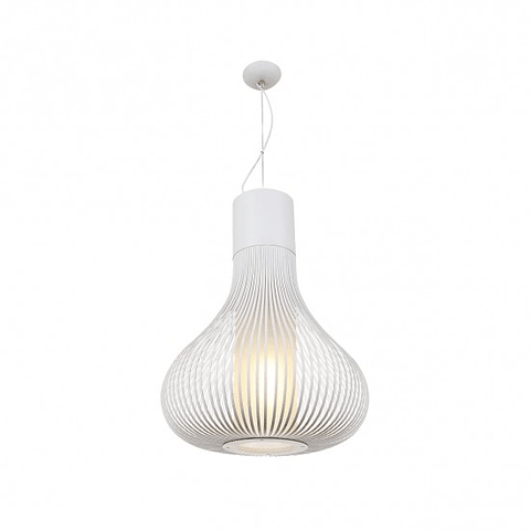 Andy Pendant Blanco Mate E26 Metal y Cristal Q47066-WH